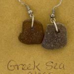 Greek Sea Glass Earrings