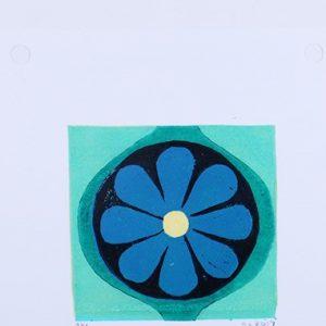 Floral Linocut Reduction Print