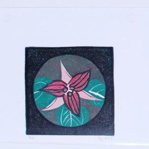 Trillium Linocut Reduc. Print