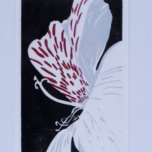 Alstoemeria Linocut Redu. Print