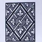 St. Anne B&W Linocut Print