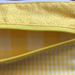 Yellow Gingham Wristlet #268