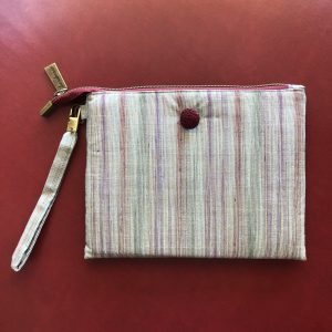 Purse – Red Striped Silk