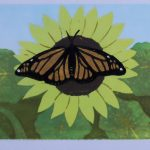 Monarch Linocut Reduction Print