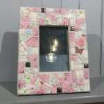 Mosaic Framed Mirror (Pink)