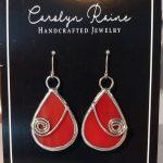 Red Teardrop Earings