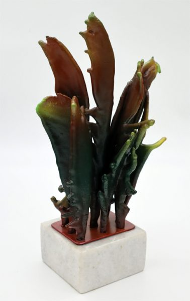 """GLENN ZWEYGARDT - """"FEATHER FRIENDS""""-DUCTILE IRON AND MARBLE - 18""""X10"""" (5.5""""X5.5"""") BASE - VALUED AT $800"""